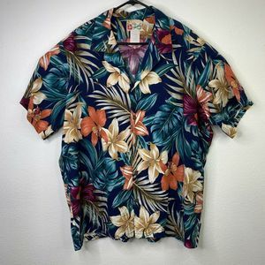 Hilo Hattie Shirt Hawaiian Island Button Up 3XL